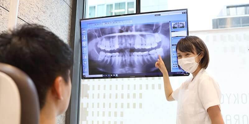 大画面を使用し分かりやすい治療説明